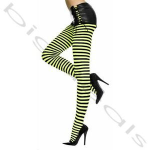 Sexy Footed Tights Stocking Pantyhose Stripe Hosiery Sock Hi Halloween Thigh