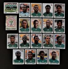 Panini FIFA World Cup South Africa 2010 Complete Team Nigeria + Foil Badge