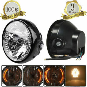 "Motorcycle Headlight Assemblies 7"" H4 35W 12V For Harley Choppers Custom Bike"