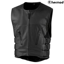 Icon Regulator Stripped D30 Armoured Motorcycle Waistcoat Vest - Black