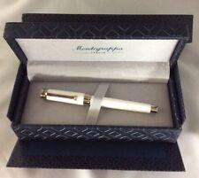 Montegrappa Italia Parola White Resin Chrome Trim Rollerball Pen ISWOTRAW