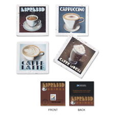 USPS New Espresso Set of 4 Coasters with/Cancellation Card