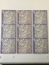 "$5000 Paule Marrot Purple Lavender 3 pcs Framed Canvas Print 108"" x 36"" x 1.5"""