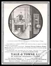 Publicité YALE & TOWNE  Ltd Serrures verrous Cadenas Vintage Ad Advert 1914
