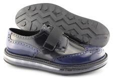 Men's PRADA 'Air-Sole' Navy Blue Leather Wingtip Sneakers Size US 9.5 PRADA 8.5