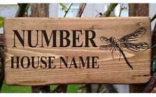 Personalised Dragonfly Plaque / Sign / Gift House Cottage Garden Name Door Plate