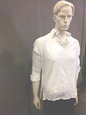 BNWT Pirate shirt,with Collar ,Cheese cloth cotton white color,l/s..Size XL