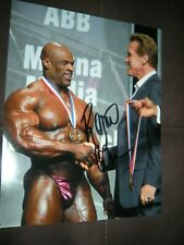 RONNIE COLEMAN signed BODYBUILDING 8x10 photo MR OLYMPIA ARNOLD CLASSIC 3