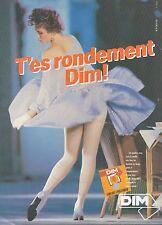 ▬► PUBLICITE ADVERTISING AD DIM Bas et collant (b)