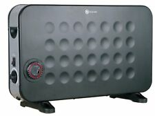 Aironic TURBO CONVECTOR ELECTRIC THERMOSTAT HEATER 24HR TIMER 2KW BLACK AIR2000B