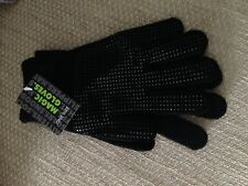 Black Gripper Gloves Full Finger Adults Mens Ladies One Size Grip Work Warm Hand