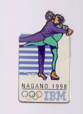 1998 IBM Figure Skating Pairs Olympic Pin Nagano