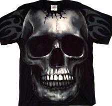 Large Skull tribal LARGE PRINT Tee shirt  2 sided print  Large 42-44  TEE RED001