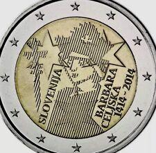 Slovenia Coin 2€ Euro 2014 Commemorative Barbara Celsjka New UNC from Roll