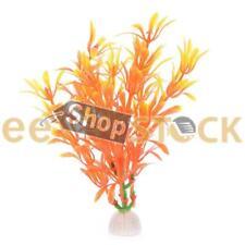 Plante Artificielle Aquarium orange jaune poisson Décoration Artificiel