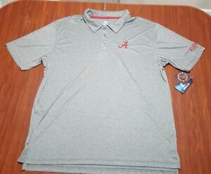 University of Alabama Crimson Tide Polo Golf Shirt Mens XXL Gray NWT NCAA 2XL