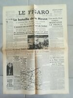 Fac similé Journal LE FIGARO 17 MAI 1940