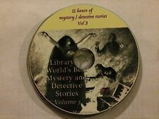 Library Of The Worlds Best Mystery Detective Stories Vol 3  - 11hrs MP3 CD