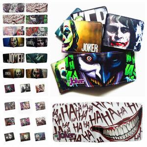 Clown The Joker Wallet Cool Short Bifold Purse Wallets Gifts
