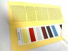 Corvette 1965 Factory Paint Chips Codes Exterior Color Chart Stats Samples CTR
