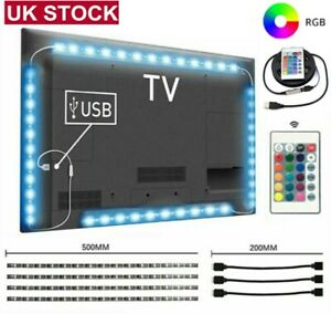 5050 USB LED Strip Lights RGB TV Backlight Colour Changing Remote Control Hot UK