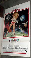 BARBARELLA original 1968 27x41 one sheet movie poster JANE FONDA