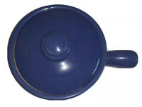 Vintage Stoneware Covered Chili Soup Bowl&Lid Periwinkle