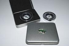 Green Land Rover Compass Metal Tin Gift Box Outdoor Camping Hiking Explorer 4x4
