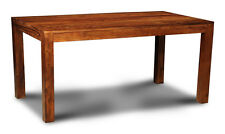 DINING ROOM FURNITURE SHEESHAM CUBA DINING TABLE 160CM (5FT) (C18W)