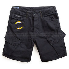 G-STAR RAW CARGO SHORTS ART ROVIC LOOSE PANTS BLACK COTTON W31 RRP $195