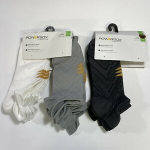 LOT-OF-2 PowerSox by GOLDTOE 9-Pairs Sneaker Tab Socks Size 6-12.5 Large REPREVE