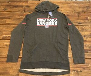 Adidas New York Rangers Squad Pullover Hoodie Size Large