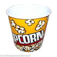 "set of 3  POPCORN BUCKETS 8"" x 8"" x 6.5"" plastic tub bowl"