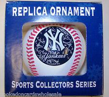 "New York Yankees MLB Replica Baseball 2 5/8"" Christmas Tree Ornament"