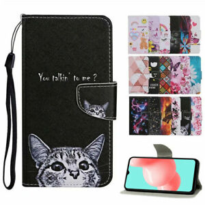 For Samsung S21 Ultra S21+ Plus S20 FE 5G Case Painted Flip Wallet Holder Cover