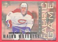 1997-98 Saku Koivu Leaf Limited Fabric of the Game 0433/1000 Montreal Canadiens