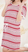 Christmas Deer Women Short Sleeve Waist String Loose Dress b124 acc04070