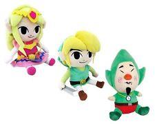 "3pcs Legend of Zelda Plush Doll Waker Link Princess & the Wind Waker Tingle 7"""