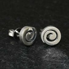 Titan Titanium Ohrstecker Ohrringe runde Silber Damen Herren matt o glanz 6 mm 2