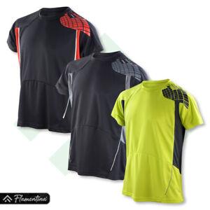 Spiro Mens Training Shirt Quick Dry Gym Top Running Cycling Yoga Jogging Sports