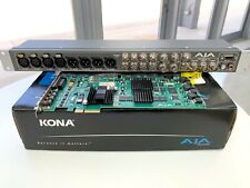 Aja Kona-3 Sdi Capture Card w. K3-Box Breakout Dual Link Hd / Hd / Sd 10-bit