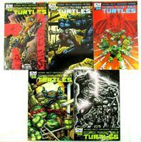 Teenage Mutant Ninja Turtles #50 A B C SUB RI Variant Set IDW Comic Book 2015