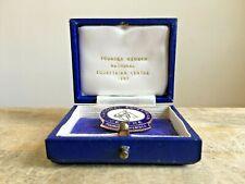 More details for vintage founder member national equestrian centre 1967 no.181 enamel badge & box