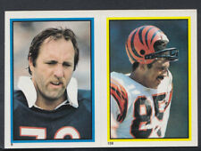 Topps 1984 American Football Sticker No's 159 & 9 - Curtis & Hartenstine  (T509)
