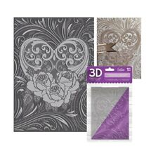Floral Heart Embossing Folder Love Blossoms Crafter's Companion Folders 3D 5x7