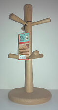 6 Peg Wooden Mug Tree. FSC Beech Wood by T & G Woodware 07631