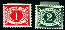 IRELAND 1925 UNUSED SCOTT J2-3 POSTAGE DUE STAMPS