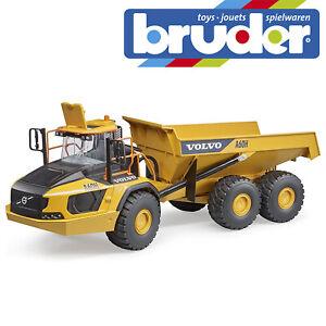 Bruder Volvo A60H Hauler Construction Truck Trailer Kids Children Toy Scale 1:16