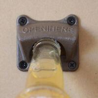 CW_ GT- Vintage Bar Open Here Cast Iron Wall Mount Beer Bottle Opener Soda Opene