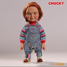 "CHILDS PLAY 15"" TALKING CHUCKY 'SMILEY FACE' 'GOOD GUY' FIGURE W/SOUND MEZCO"